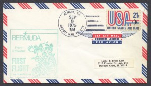 1975 First Flight American Airlines Bermuda from New York FF