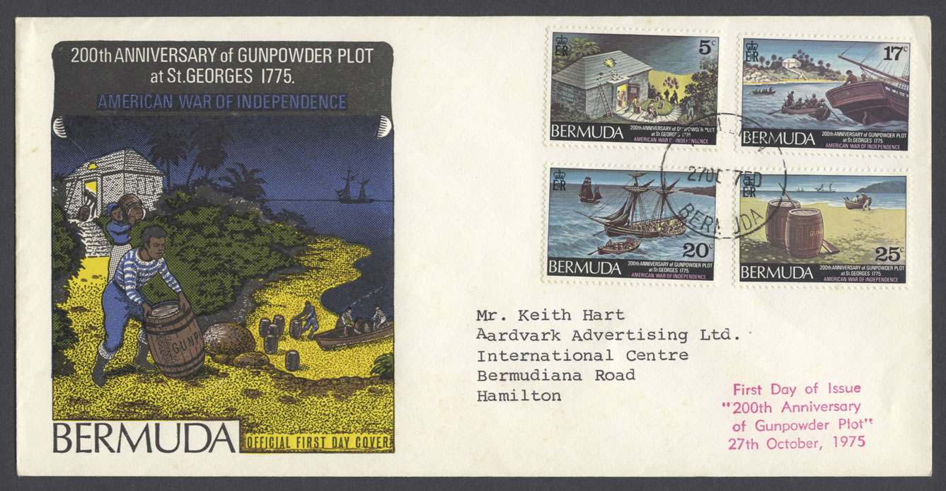 1975 200th Anniversary of the Gunpowder Plot FDC