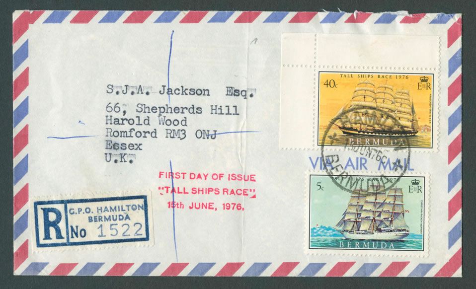1976 Tall Ships Race Air MailFDC