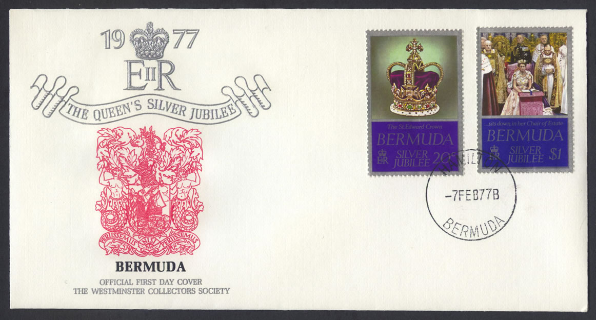 1977 Silver Jubilee FDC Westminster Collectors Society