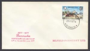 1977 Centenary of Membership of the Universal Postal Union plain FDC