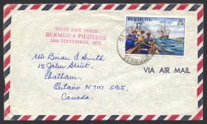 1977 Bermuda Piloting 17c Air Mail FDC