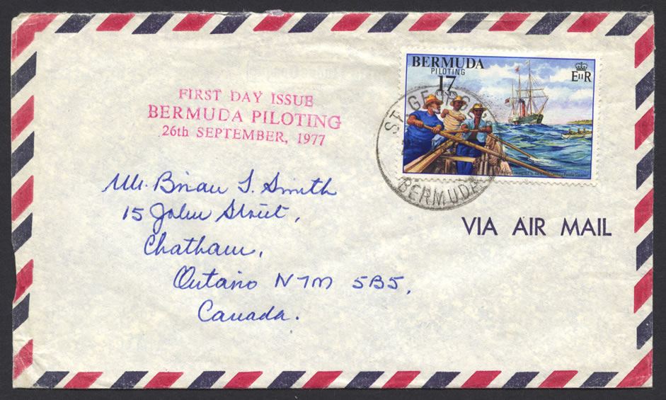 1977 Bermuda Piloting 17c Air Mail FDC