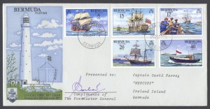 1977 Bermuda Piloting Signed PMG FDC
