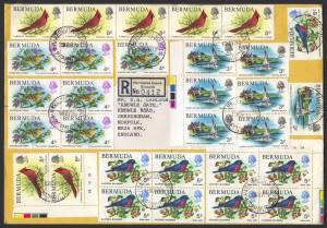 1978 Bermuda Wildlife Definitives Pt 1 FDC