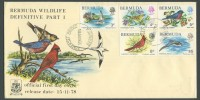 1978 Bermuda Wildlife Definitives Pt 1 FDC