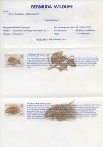 1979 Bermuda Wildlife Definitive Pt II liner FDC