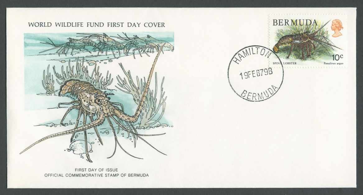 1979 WWF Lobster 10c definitive FDC