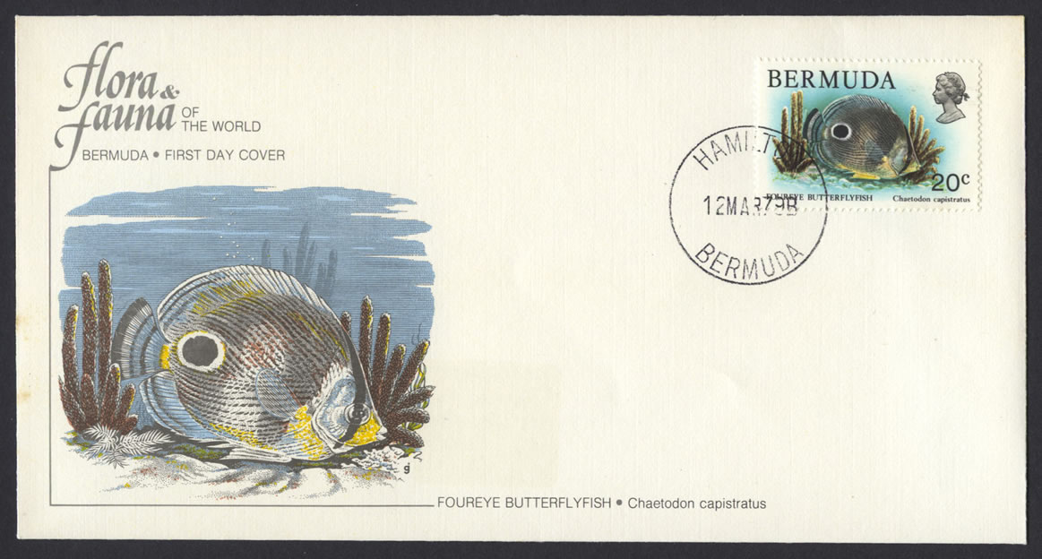 1979 Flora and Fauna National Audobon Society Butterflyfish FDC
