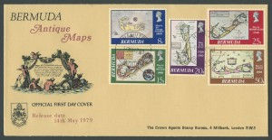 1979 Bermuda Antique Maps FDC