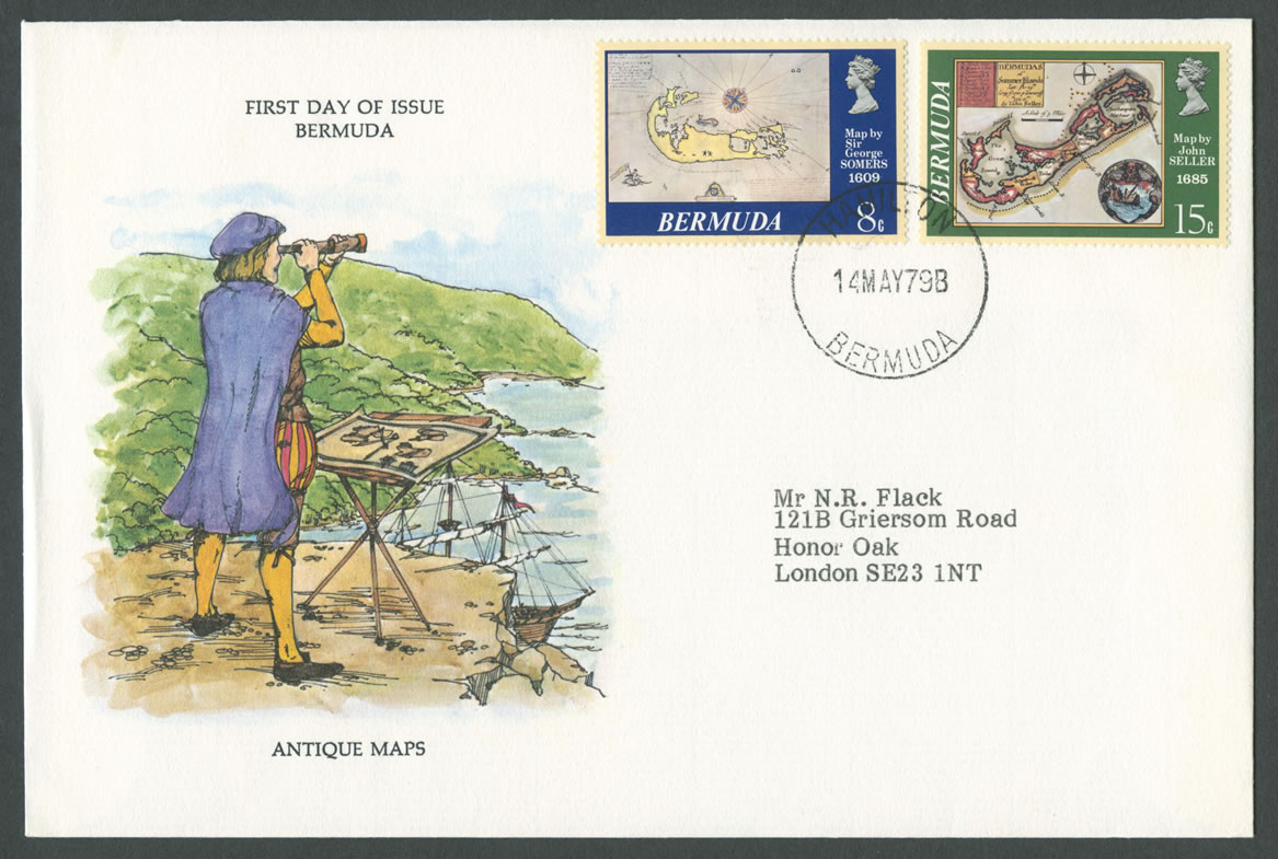 1979 Antique Maps FDC