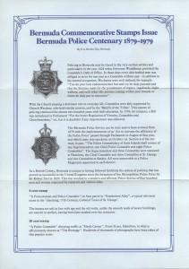 1979 Bermuda Police Service Centenary liner FDC