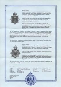 1979 Bermuda Police Service Centenary liner reverse FDC