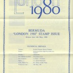 1980 London 1980 insert front FDC