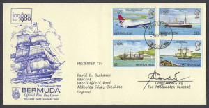 1980 London 1980 signed FDC