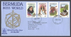 1980 Bermuda Miss World FDC