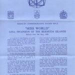 1980 Bermuda Miss World liner FDC