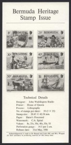 1981 Bermuda Heritage Issue insert FDC