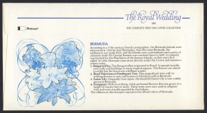 1981 Royal Wedding Charles and Diana Fleetwood reverse FDC