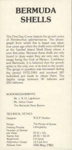 1982 Bermuda Shells definitives insert FDC