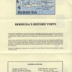 1982 Bermuda Historic Forts insert front FDC