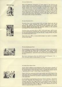 1982 Bermuda Historic Forts insert reverse FDC