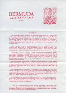 1983 Bermuda Coats of Arms Part 1 insert FDC