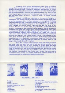 1983 Bermuda Fitted Dinghies insert reverse FDC