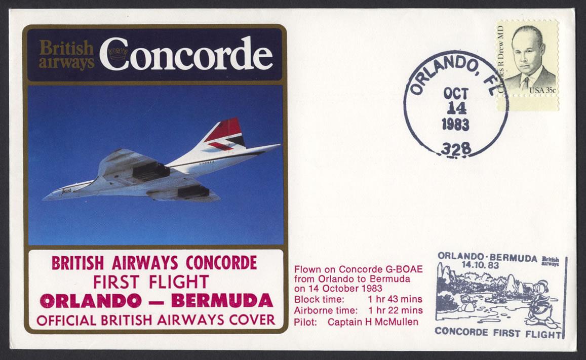 1983 BA Concorde Orlando to Bermuda First Flight
