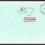 1983 BA Concorde Orlando to Bermuda Signed First Flight reverse