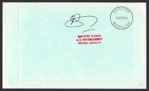 1983 BA Concorde Orlando to Bermuda Signed First Flight reverse