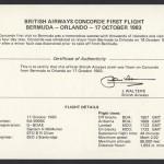 1983 British Airways Concorde Bermuda to Orlando insert First Flight