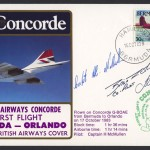 1983 British Airways Concorde Bermuda to Orlando Signed First Flight