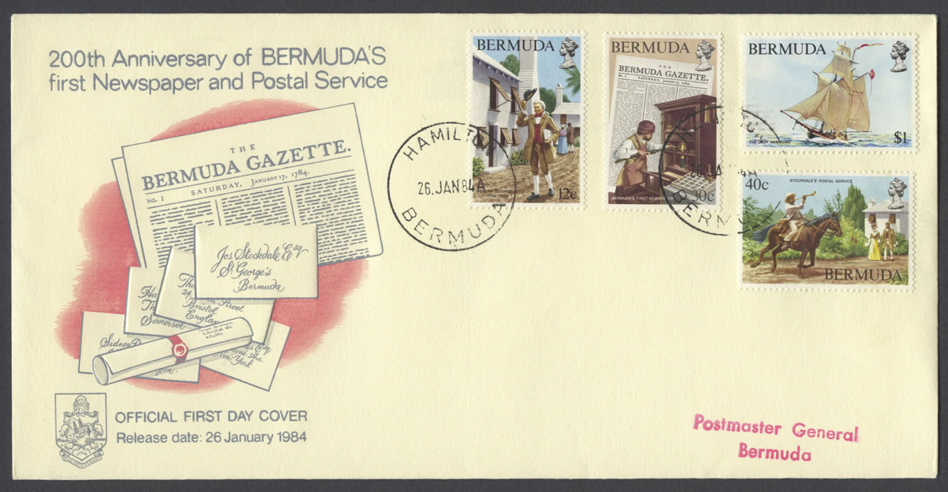1984 200th Anniversary first Newspaper and Postal Service FDC