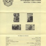 1984 200th Anniversary first Newspaper and Postal Service insert FDC