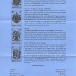 1984 Bermuda Coats of Arms insert reverseFDC