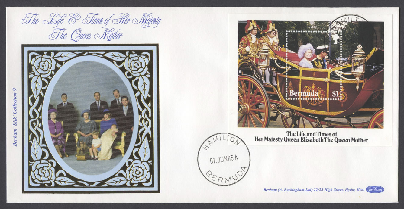 1985 Life and Times of the Queen Mother Miniature Sheet Benham FDC