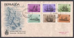 1986 Bermuda Shipwrecks Part II FDC