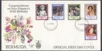 1986 Queen Elizabeth II 60th Birthday FDC