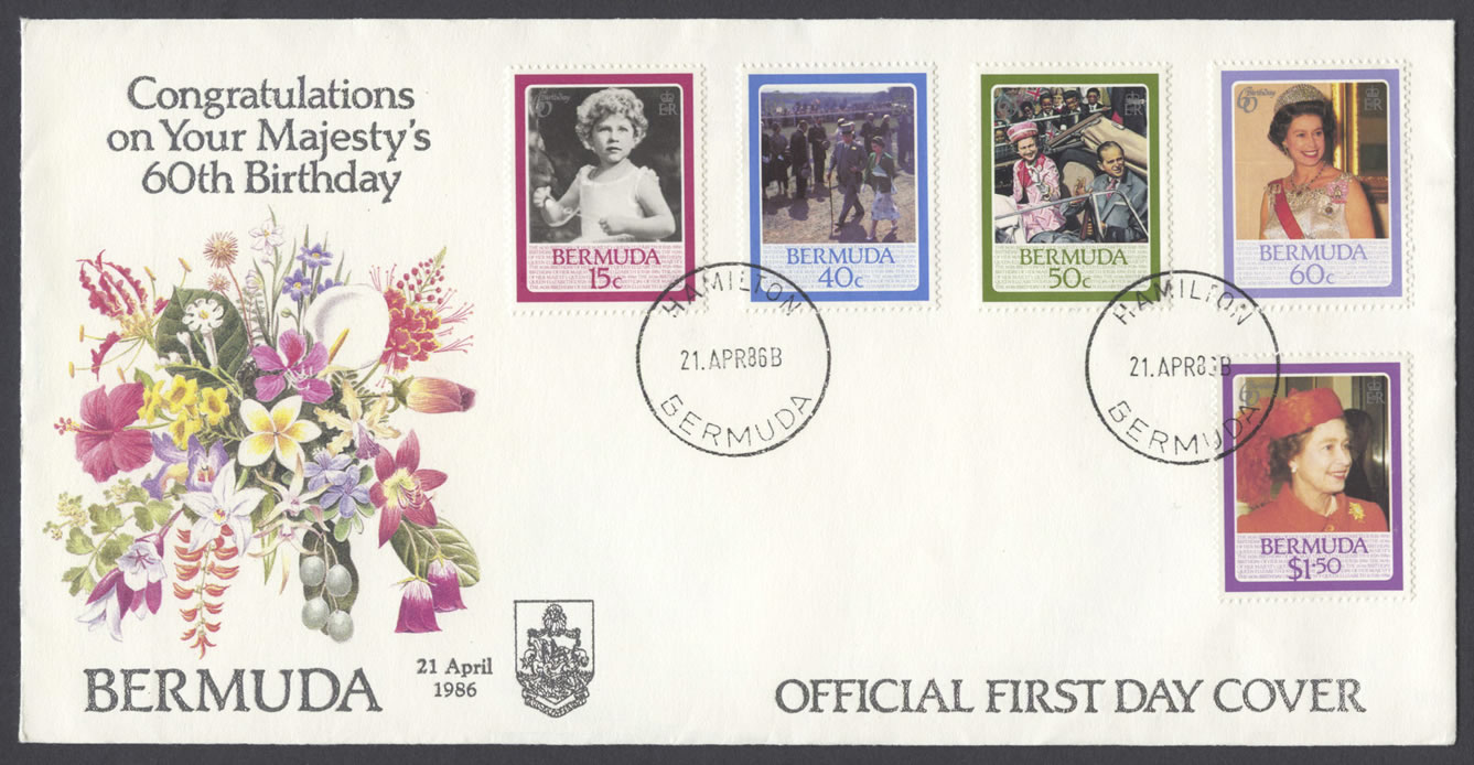 1986 Queen Elizabeth II 60th Birthday FDC