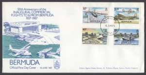 50th Anniversary of the Inaugural Bermuda Commercial Flights FDC