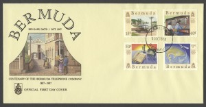 1987 Centenary of the Bermuda Telephone Company FDC