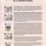 1988 Old Garden Roses Part 1 insert FDC