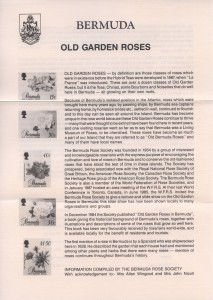 1988 Old Garden Roses Part 1 insert FDC