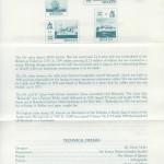 1988 Lloyd's of London Tercentenary insert reverse FDC