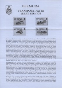 1989 Transport Ferry Service Pt III insert FDC