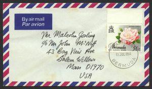 1989 Old Garden Roses 50c Booklet Stamp FDC