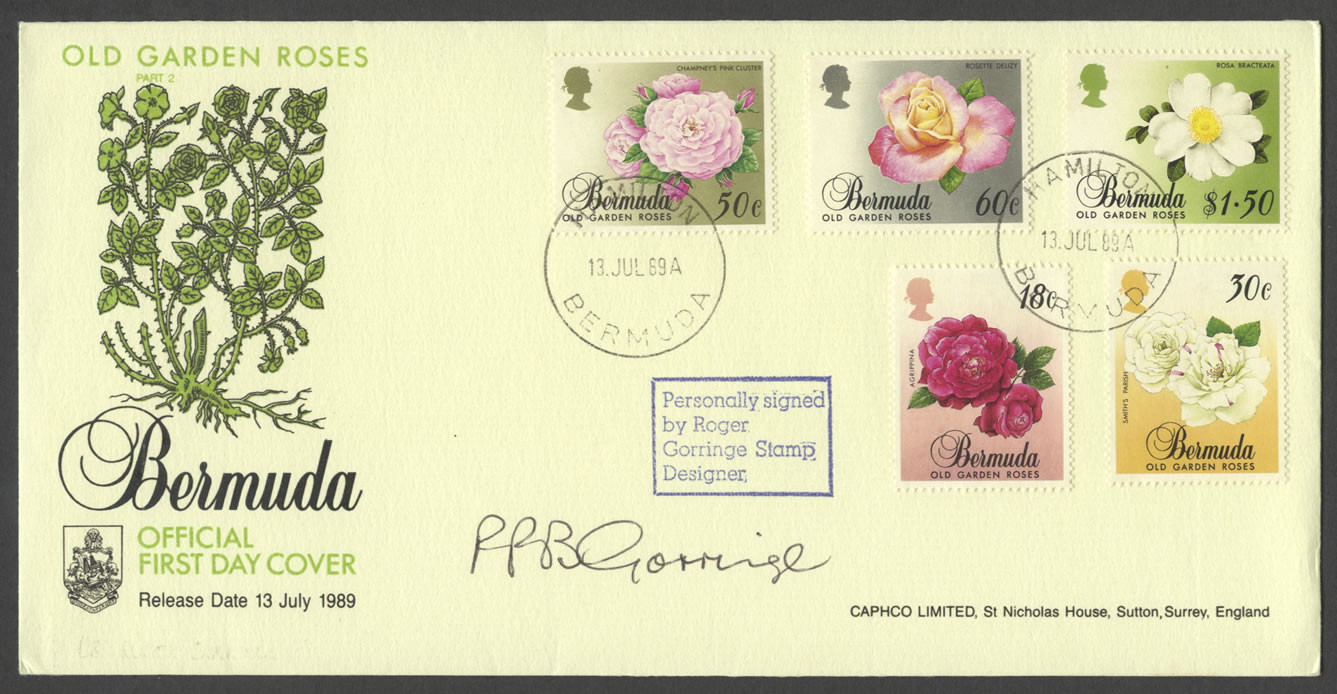 1989 Old Garden Roses FDC