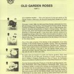 1989 Old Garden Roses liner FDC