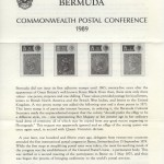 1989 Commonwealth Postal Conference insert FDC